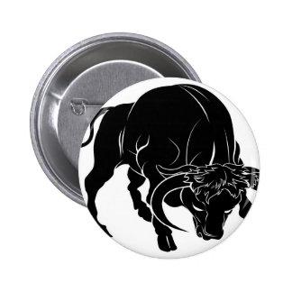 Ejemplo estilizado del toro pin redondo 5 cm
