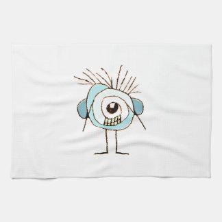 Ejemplo extraño lindo de la caricatura toalla