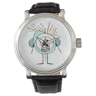 Ejemplo extraño lindo de la trama de la caricatura relojes de mano