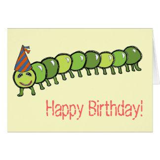 Ejemplo feliz de Caterpillar Tarjeta De Felicitación