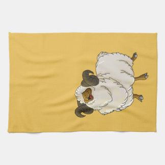 Ejemplo feliz de la sonrisa de las ovejas del toallas de mano