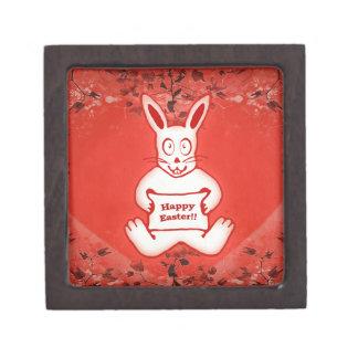 Ejemplo feliz del dibujo de Pascua del conejito Caja De Recuerdo De Calidad