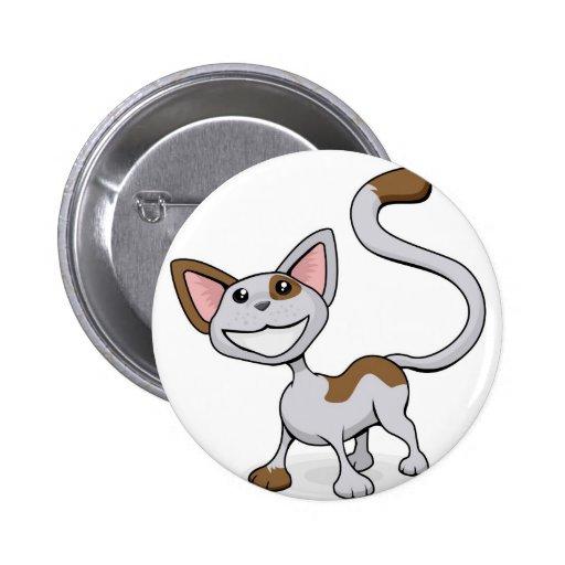Ejemplo feliz lindo del dibujo animado del gato pin