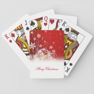 """Ejemplo festivo hermoso """"de las Felices Navidad"""" Cartas De Póquer"""