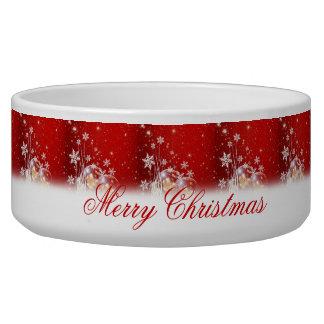 """Ejemplo festivo hermoso """"de las Felices Navidad"""" Boles Para Gatos"""