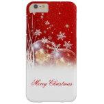 """Ejemplo festivo hermoso """"de las Felices Navidad"""" Funda De iPhone 6 Plus Barely There"""