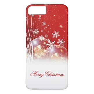 """Ejemplo festivo hermoso """"de las Felices Navidad"""" Funda iPhone 7 Plus"""
