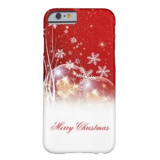 """Ejemplo festivo hermoso """"de las Felices Navidad"""" Funda Para iPhone 6 Barely There"""