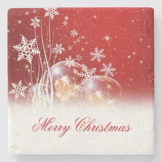 """Ejemplo festivo hermoso """"de las Felices Navidad"""" Posavasos De Piedra"""