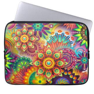 Ejemplo floral colorido fundas portátiles