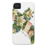 Ejemplo floral de la cruz de la flor del vintage - iPhone 4 carcasas