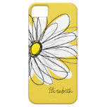 Ejemplo floral de la margarita de moda - amarillo iPhone 5 Case-Mate protectores