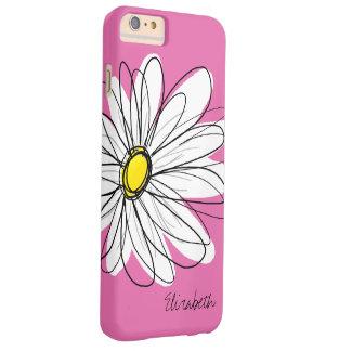 Ejemplo floral de la margarita de moda - amarillo funda barely there iPhone 6 plus