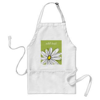 Ejemplo floral de la margarita de moda - cal y ama delantal