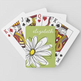 Ejemplo floral de la margarita de moda - cal y baraja de póquer