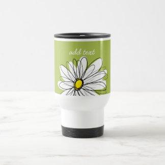 Ejemplo floral de la margarita de moda - cal y taza de viaje