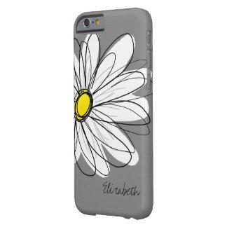 Ejemplo floral de la margarita de moda - gris y funda barely there iPhone 6