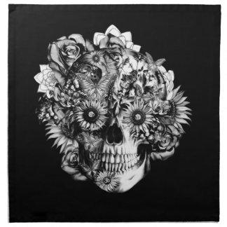 Ejemplo floral del cráneo del ohmio de la mariposa servilletas de papel