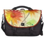Ejemplo floral moderno bolsas para portatil