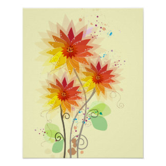 Ejemplo floral moderno impresiones