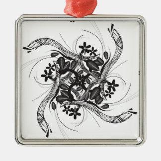 Ejemplo floral negro adorno de navidad
