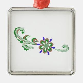 Ejemplo floral ornamento de reyes magos