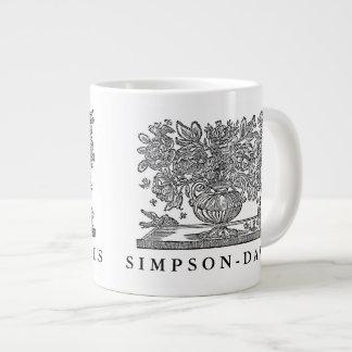 Ejemplo floral personalizado con los grifos taza de café grande
