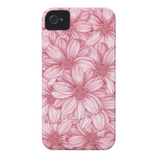 Ejemplo floral rosado de la repetición Case-Mate iPhone 4 protector