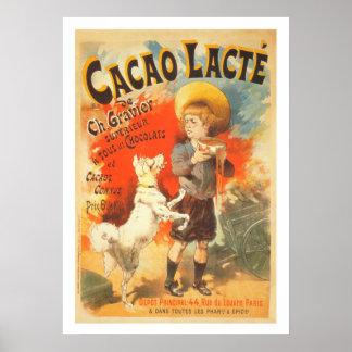 Ejemplo francés de la publicidad del perro del póster