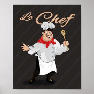 Ejemplo francés del cocinero de la decoración de póster