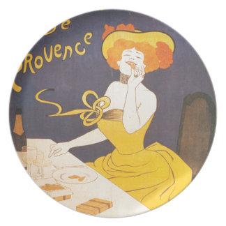 Ejemplo francés del vintage de Amandines de Plato De Cena