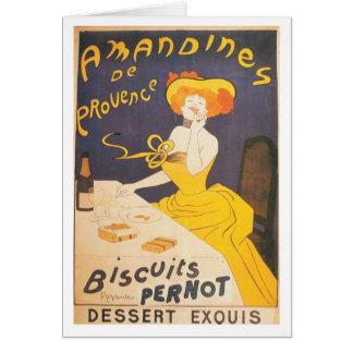 Ejemplo francés del vintage de Amandines de Tarjeta De Felicitación