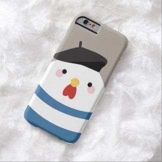 Ejemplo francés lindo de la gallina de Kawaii Funda De iPhone 6 Barely There
