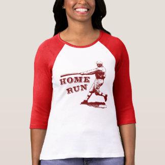 Ejemplo fresco del béisbol del home run del camisas