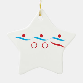 Ejemplo fresco del logotipo del Triathlon Ornamento Para Arbol De Navidad