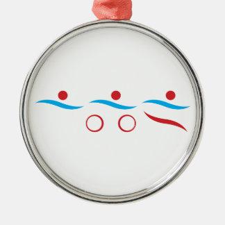 Ejemplo fresco del logotipo del Triathlon Ornamentos De Reyes