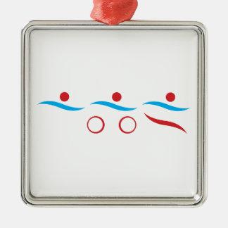 Ejemplo fresco del logotipo del Triathlon Ornamento Para Reyes Magos