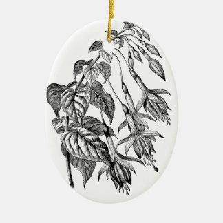 Ejemplo fucsia hortícola adorno ovalado de cerámica