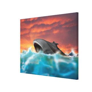 Ejemplo futurista del submarino de la marina de lona envuelta para galerias