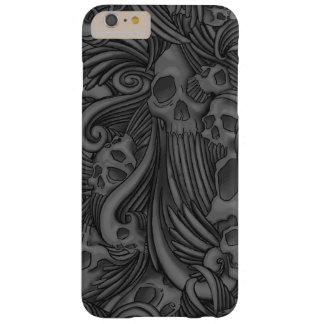 Ejemplo gótico con alas del cráneo funda de iPhone 6 slim