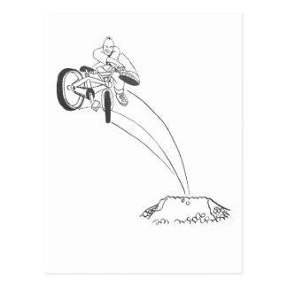 Ejemplo gráfico del dibujo animado del puente de tarjeta postal