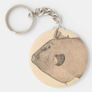 Ejemplo gris del Triggerfish Llavero Redondo Tipo Pin