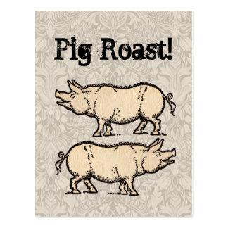 Ejemplo guarro de la antigüedad del cerdo del postales
