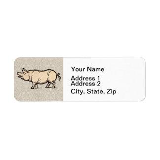 Ejemplo guarro de la antigüedad del cerdo del vint etiquetas de remite