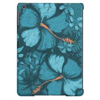 Ejemplo hawaiano de la roca de la lava del hibisco funda para iPad air