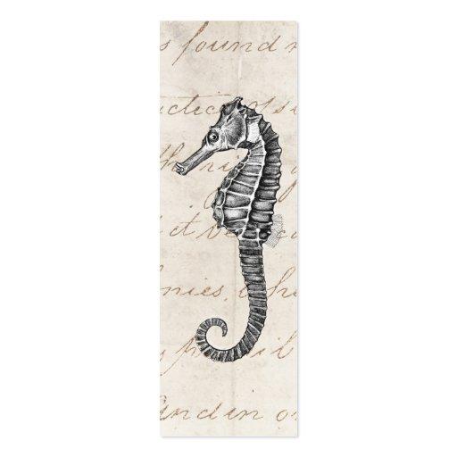 Ejemplo hawaiano del caballo de mar de los 1800s d tarjeta de visita