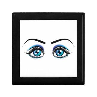 Ejemplo hermoso de la animación de los ojos azules