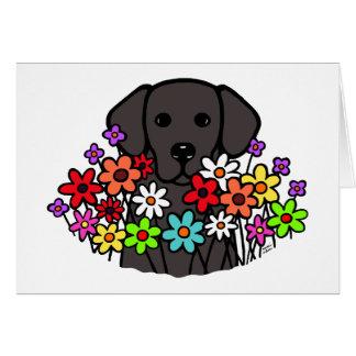 Ejemplo hermoso de Labrador del negro del alma Tarjeta De Felicitación