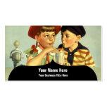 Ejemplo joven del vintage de los amantes tarjetas de visita