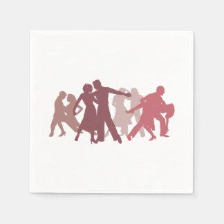 Ejemplo latino de los bailarines servilletas de papel